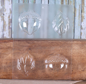 Leaves and Acorns Chocolate Mold | www.bakerspartyshop.com