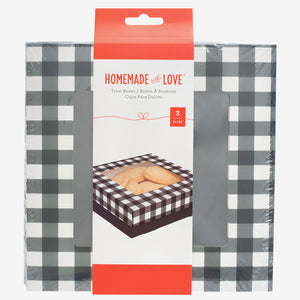 Large Cookie Boxes: Black Check | www.bakerspartyshop.com