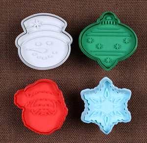 Large Christmas Cookie Cutter Stampers | www.bakerspartyshop.com