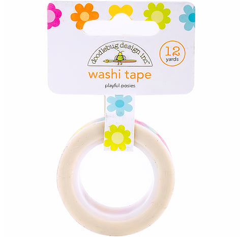 Large Bright Flowers Washi Tape | www.bakerspartyshop.com