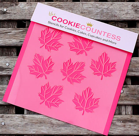 Maple Leaf Cookie Stencil | www.bakerspartyshop.com