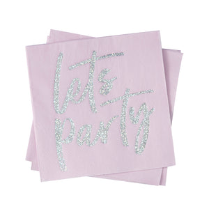 Light Pink Iridescent Napkins: Lets Party | www.bakerspartyshop.com