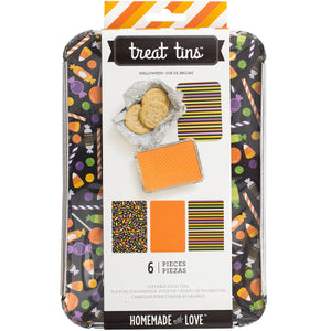 Large Halloween Treat Tins | www.bakerspartyshop.com