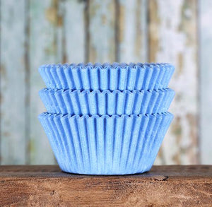 Light Blue Cupcake Liners: Solid | www.bakerspartyshop.com