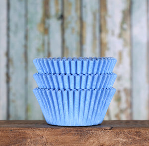 Bulk Light Blue Cupcake Liners: Solid | www.bakerspartyshop.com