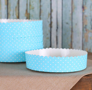 Small Blue Tart Pans | www.bakerspartyshop.com