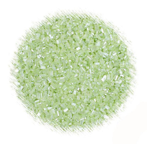 Shimmer Light Green Sparkling Sugar | www.bakerspartyshop.com