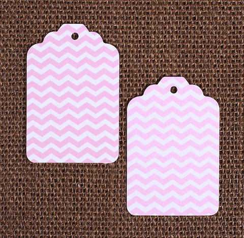 Light Pink Gift Tags: Chevron | www.bakerspartyshop.com