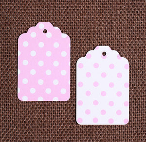 Light Pink Gift Tags: Polka Dot | www.bakerspartyshop.com