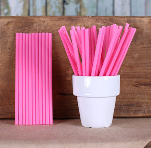 Pink Lollipop Sticks: 4.5"