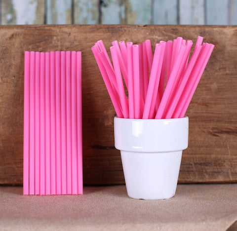 "Light Pink Lollipop Sticks (4 1/2"") 