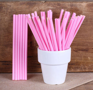 Light Pink Lollipop Sticks: 4.5"