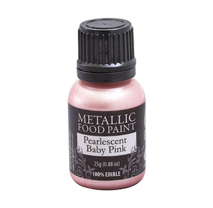 Metallic Food Paint: Light Pink | www.bakerspartyshop.com