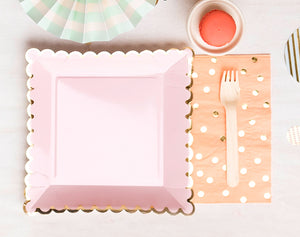Large Light Pink Plates | www.bakerspartyshop.com