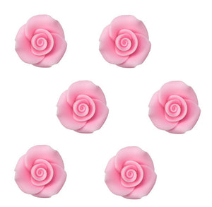 Edible Light Pink Fondant Roses: 1"