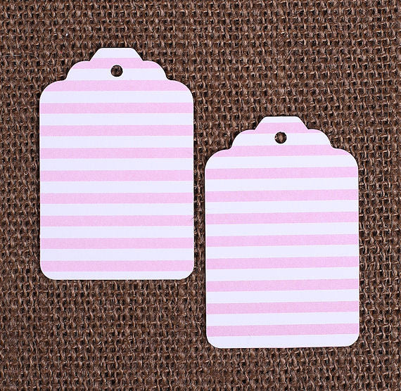 Light Pink Gift Tags: Stripe   www.bakerspartyshop.com