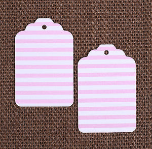 Light Pink Gift Tags: Stripe | www.bakerspartyshop.com