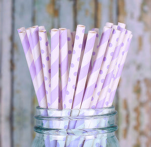 Light Purple Paper Straws | www.bakerspartyshop.com
