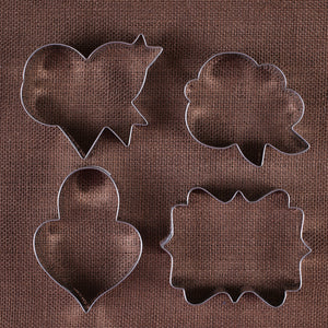 Valentine's Day Cookie Cutters: LilaLoa | www.bakerspartyshop.com
