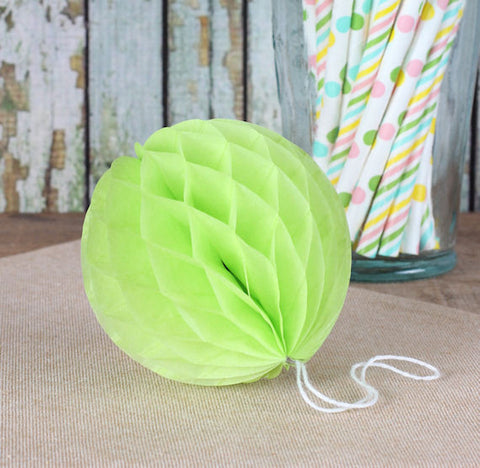 Lime Green Honeycomb Tissue Balls: 3"