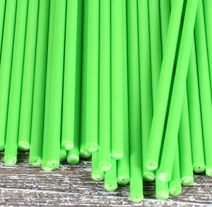 Lime Green Lollipop Sticks: 6"