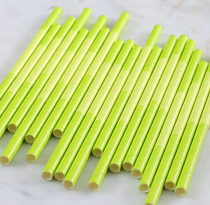 Lime Green Paper Cocktail Straws: Two Tone | www.bakerspartyshop.com