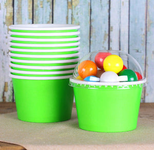 Large Lime Green Ice Cream Cups: 8oz | www.bakerspartyshop.com