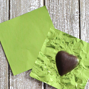 Lime Green Foil Candy Wrapper | www.bakerspartyshop.com