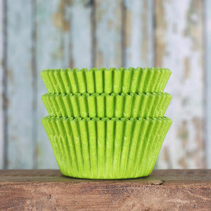 Bulk Lime Cupcake Liners: Solid | www.bakerspartyshop.com