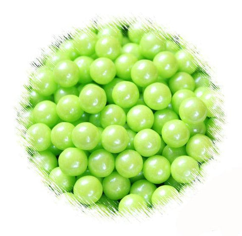Lime Green Sugar Pearls: 7mm | www.bakerspartyshop.com
