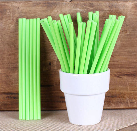 "Bulk Lime Green Lollipop Sticks (4 1/2"") 
