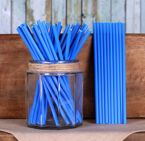 "Blue Lollipop Sticks (6"") 