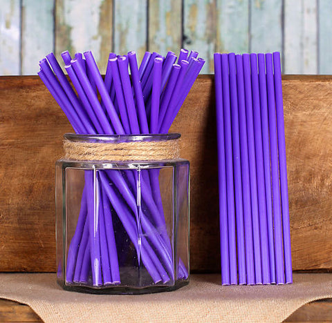 "Purple Lollipop Sticks (6"") 