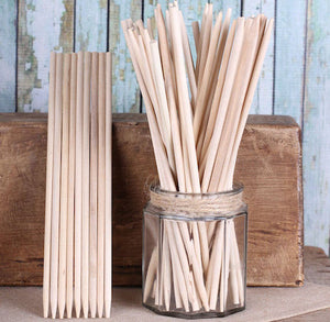 Long Wooden Candy Apple Sticks: 8.5"