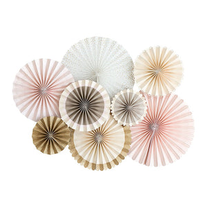 Champagne Pink Party Fans | www.bakerspartyshop.com