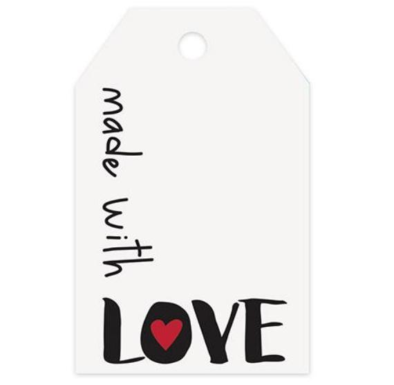 Made with Love Gift Tags | www.bakerspartyshop.com