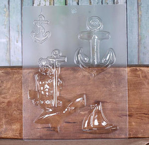 Anchor Candy Mold with Mermaid | www.bakerspartyshop.com