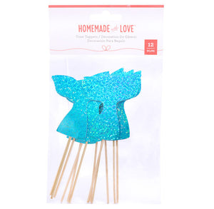 Mermaid Tail Cupcake Toppers | www.bakerspartyshop.com
