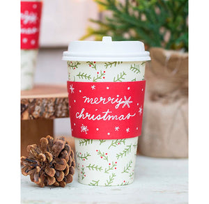 Travel Coffee Cups: Merry Christmas | www.bakerspartyshop.com