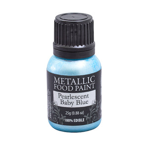 Metallic Food Paint: Light Blue | www.bakerspartyshop.com