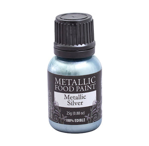 Metallic Food Paint: Silver | www.bakerspartyshop.com