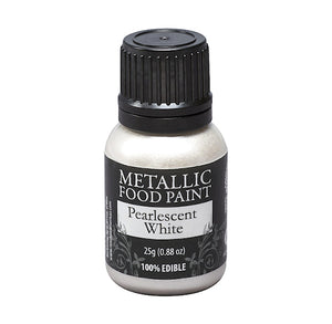 Metallic Food Paint: Pearl White | www.bakerspartyshop.com