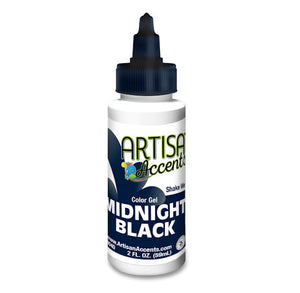 Artisan Accents Black Color Gel Food Coloring | www.bakerspartyshop.com