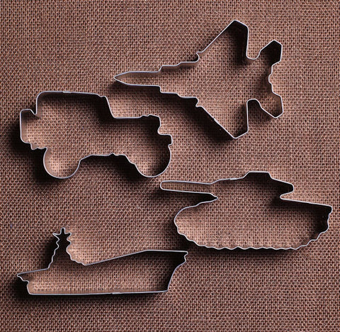 Military Vehicle Cookie Cutters Set | www.bakerspartyshop.com