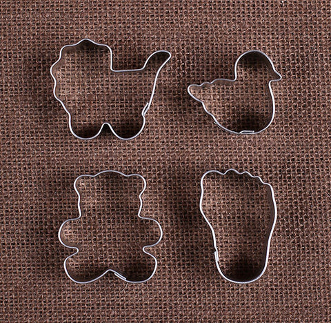 Mini New Baby Cookie Cutters | www.bakerspartyshop.com