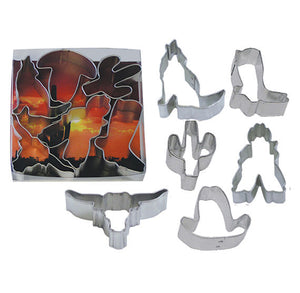 Mini Cowboy Cookie Cutters Set | www.bakerspartyshop.com