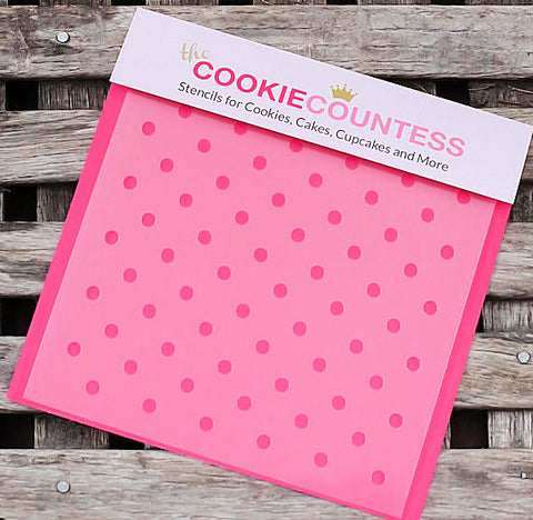 Polka Dot Cookie Stencil: Mini | www.bakerspartyshop.com