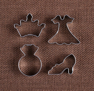 Mini Princess Cookie Cutters | www.bakerspartyshop.com