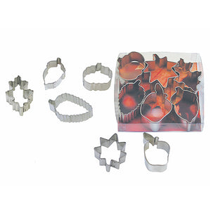 Mini Fall Cookie Cutters: Set of 6 | www.bakerspartyshop.com