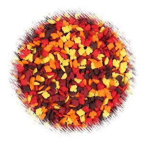 Bulk MIni Fall Leaves Sprinkles | www.bakerspartyshop.com